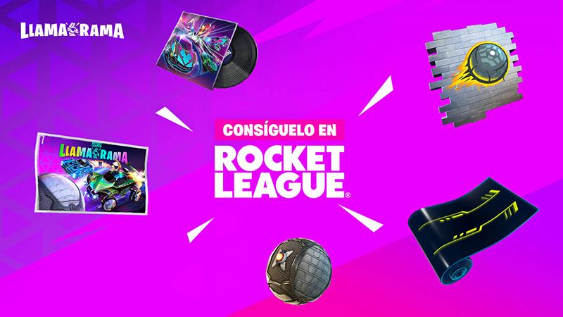 Rocket League y Fortnite Llama-Rama