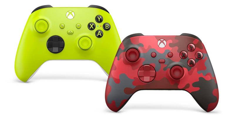 Los controles Electric Volt y Daystrike Camo Special Edition para Xbox