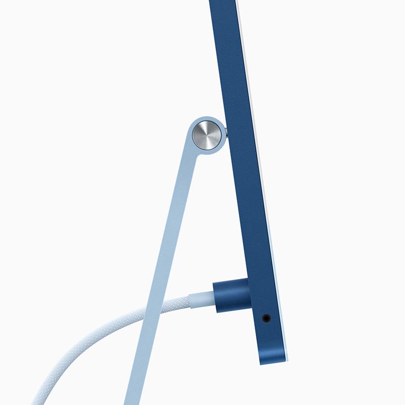 Apple iMac 2021 azul cable