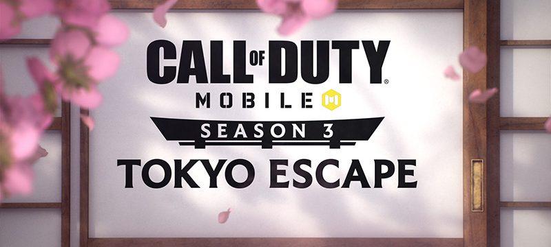 Call of Duty Mobile Tokyo Escape Temporada 3 logo