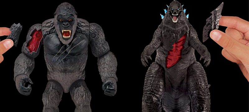 Godzilla Vs King Kong figuras Bandai
