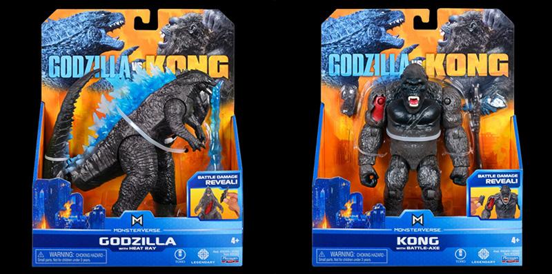 Godzilla Vs King Kong figuras Bandai cajas