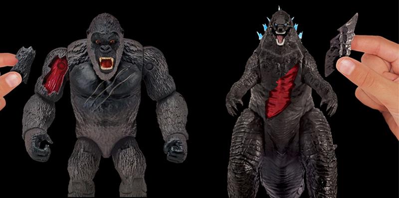 Figuras de Godzilla y King Kong en la Bandai Collectors Shop