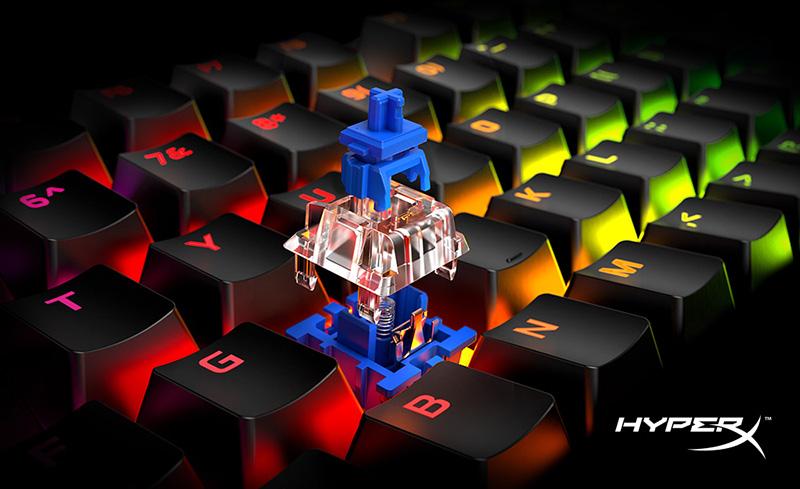 HyperX Alloy Origins Core teclas HyperX Blue