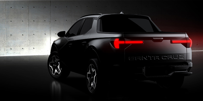Hyundai Santa Cruz 2022 boceto trasera