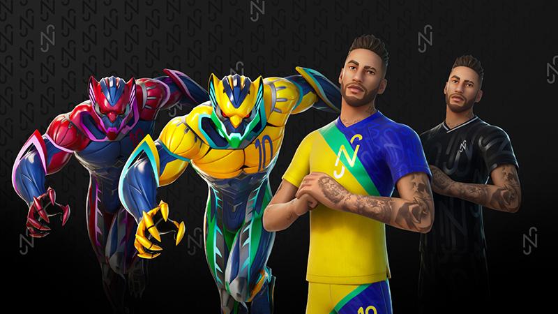 Neymar Jr Fortnite skins
