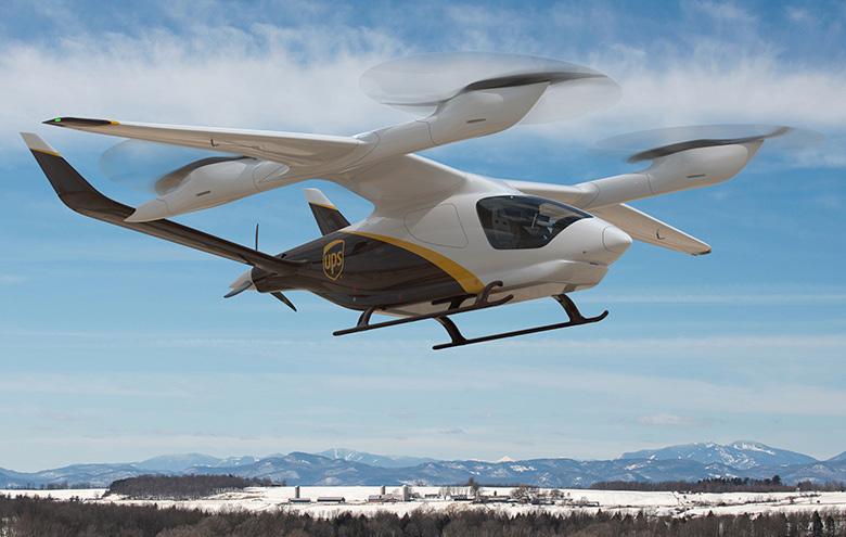UPS BETA eVTOL aviones electricos