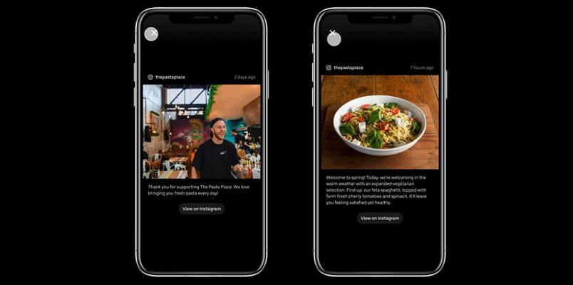 Uber Eats Instagram restaurantes