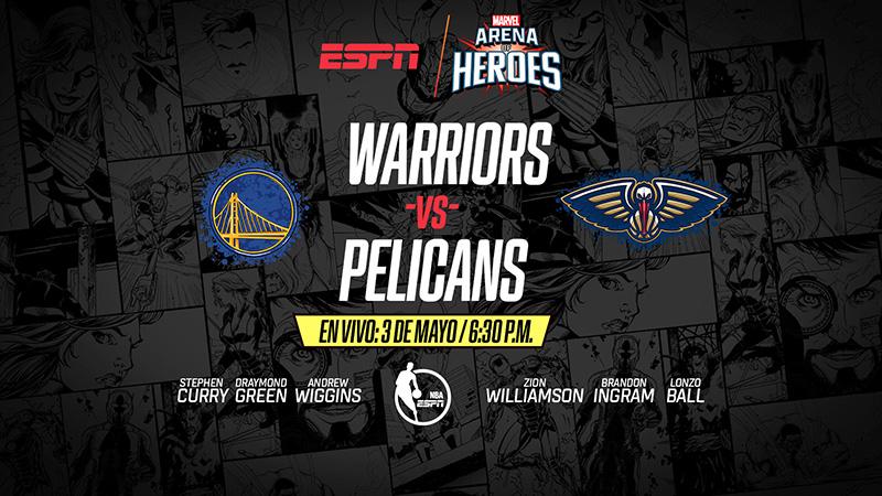 Warriors vs Pelicans Marvel Arena of Heroes