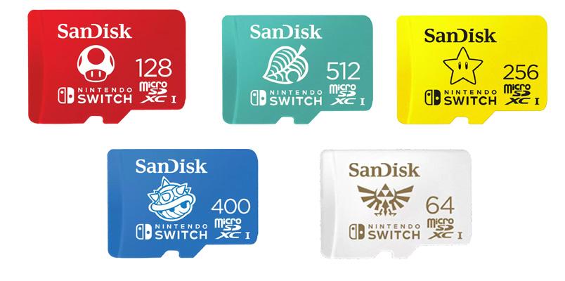 microSD SanDisk Nintendo Switch capacidades