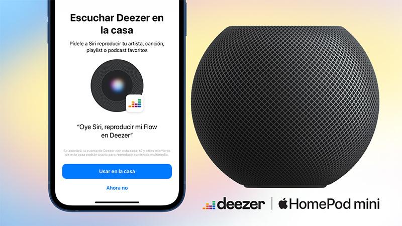 HomePod y HomePod mini pueden reproducir tu música de Deezer