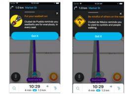 Mensajes de seguridad Waze for Cities