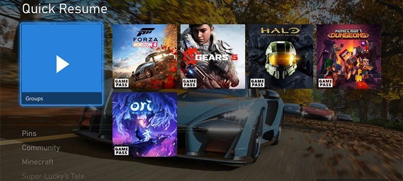 Quick-Resume Xbox Series mayo