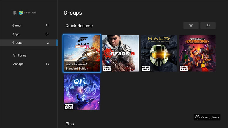 Quick-Resume-grupos Xbox Series mayo
