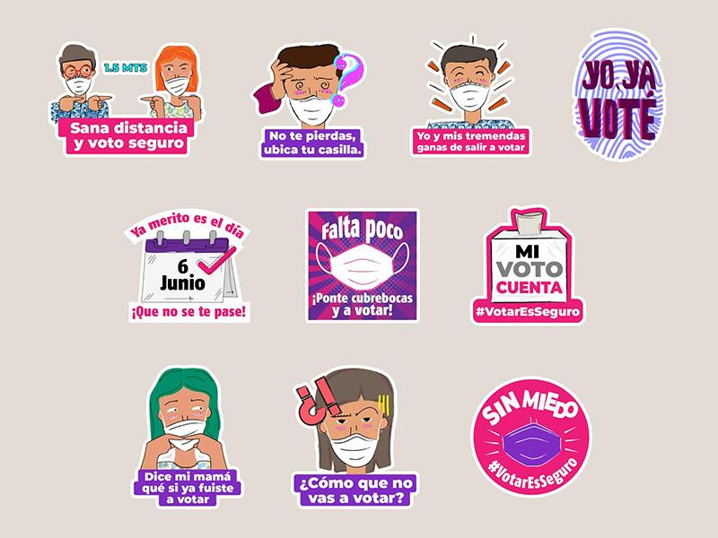 Stickers INE Elecciones 2021