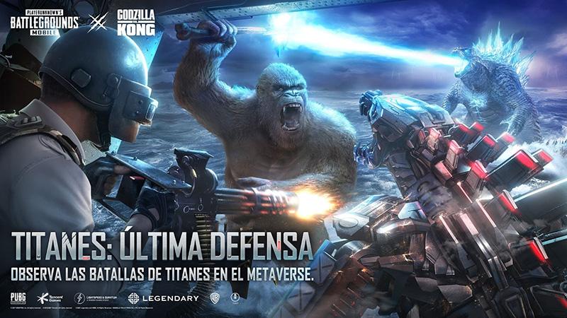 Disfruta de esta película de Godzilla vs. Kong en PUBG MOBILE