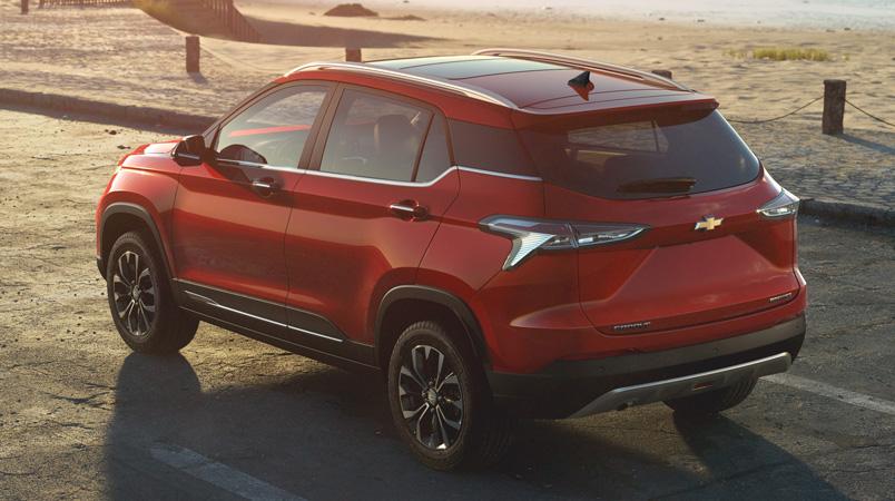 Chevrolet Groove 2022 trasera rojo
