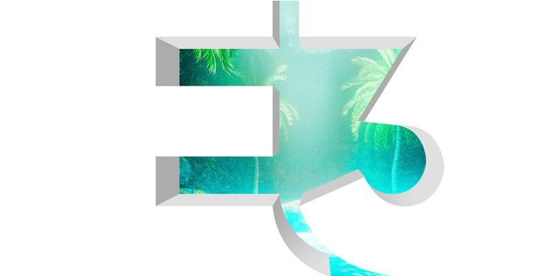 E3 logo fondo