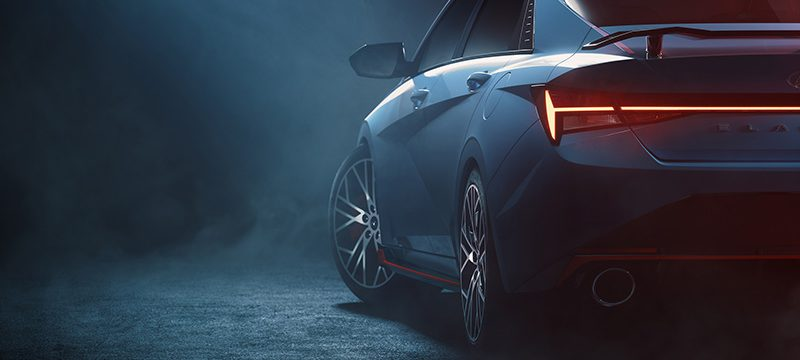 Hyundai Elantra N teaser trasera