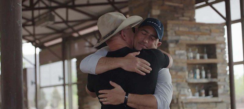 Jeff y Mark Bezos Blue Origin