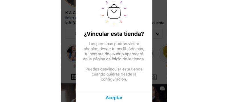 Vicular tienda cuenta Instagram monetizar