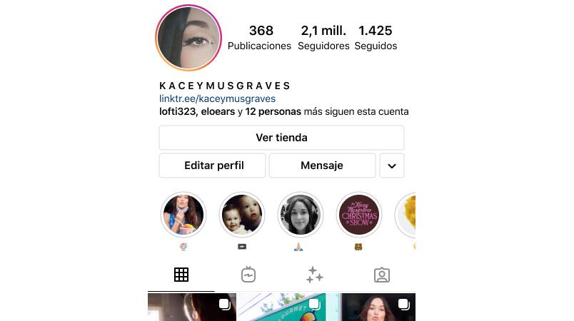 Vicular tienda cuenta Instagram
