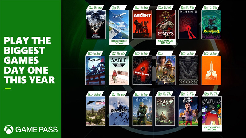 Xbox Game Pass juegos en 2021 Day One