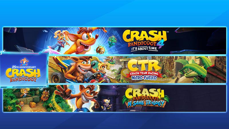 Celebra el 25 aniversario de Crash Bandicoot con estos paquetes
