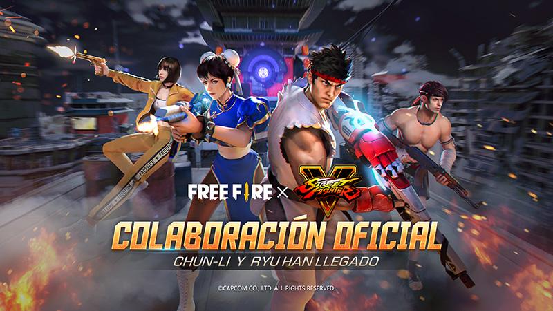 Free Fire x Street Fighter V trae a Chun-Li y Ryu a la acción del juego