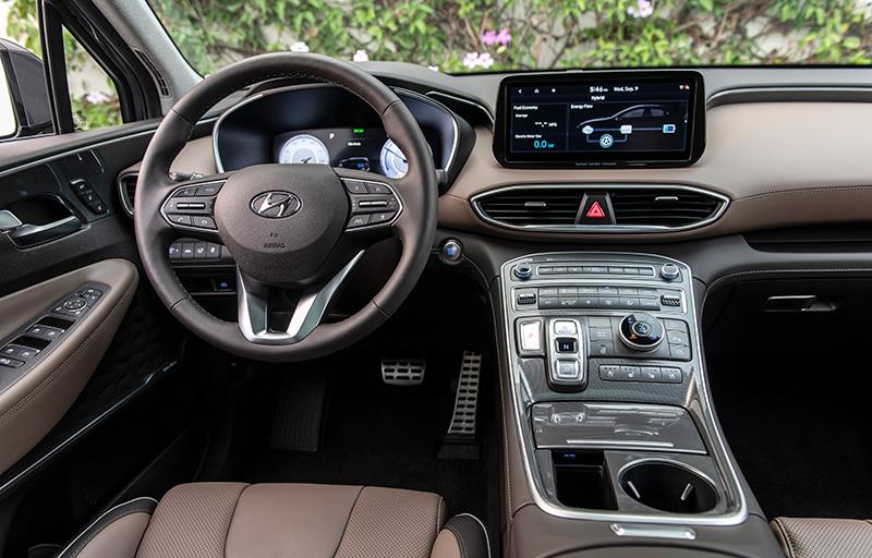 Hyundai Santa Fe 2022 en Mexico interior