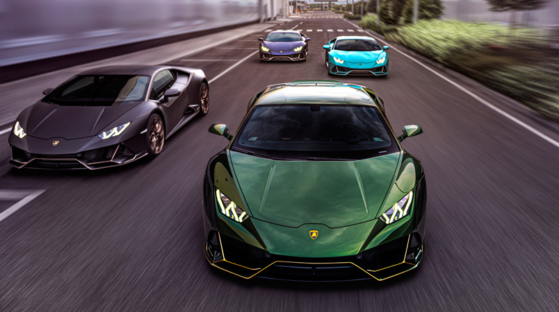Lamborghini celebra 10 años en México con estos Huracán EVO