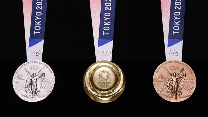 Estas son las medallas Olímpicas de Tokyo 2020; hechas con celulares
