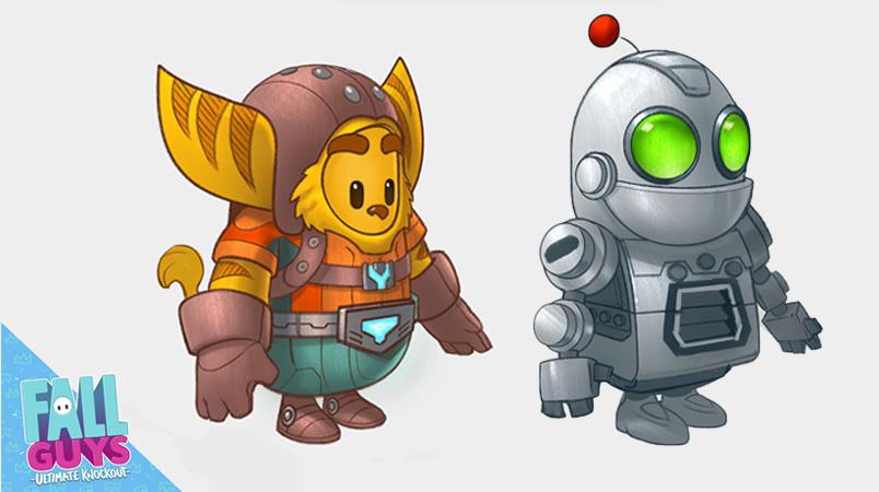 Ratchet y Clank Fall Guys arte