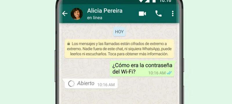 10 visualizacion unica de WhatsApp
