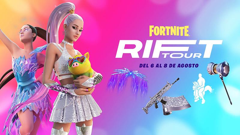 ¿Cómo ver el concierto de Ariana Grande en el Rift Tour de Fortnite?
