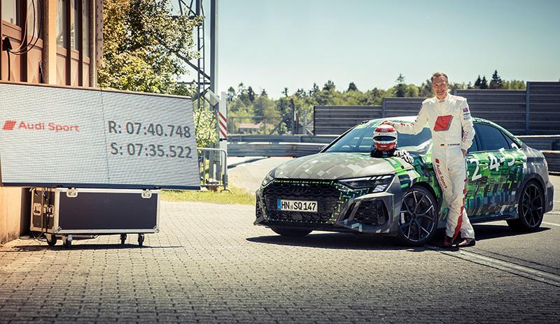 Audi RS 3 record en Nurburgring