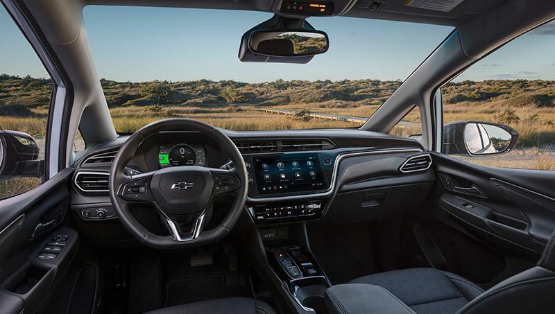 Chevrolet Bolt EUV 2022 interior Mexico