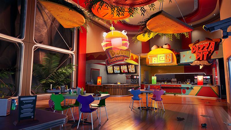 Fortnite Impostores cafeteria