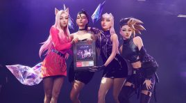 POP/STARS del supergrupo de pop virtual K/DA logra disco de oro