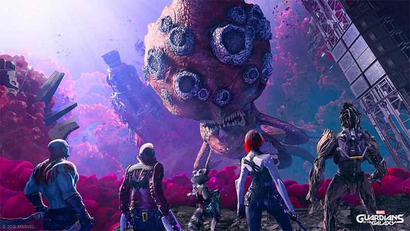 El diseño de personajes de Marvel's Guardians of the Galaxy