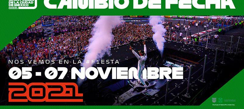 Nueva fecha Gran Premio de la Ciudad de Mexico 2021