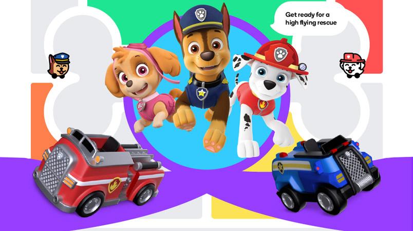 PAW Patrol Waze experiencia