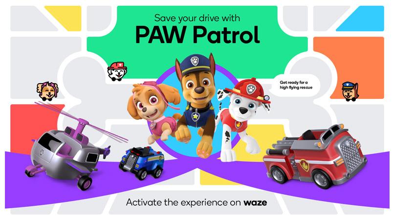 Llega a tiempo y más seguro a tu destino con PAW Patrol y Waze