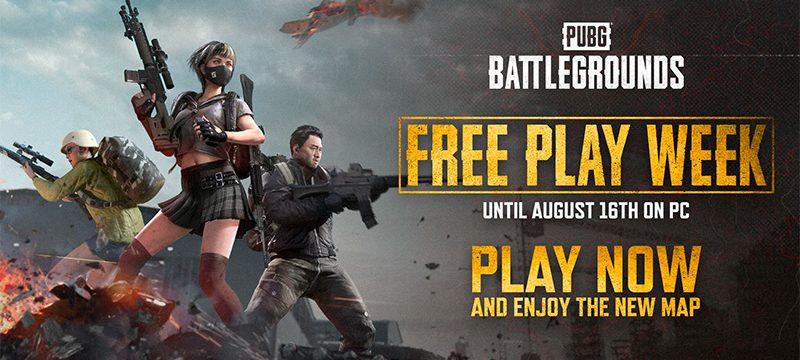 PUBG BATTLEGROUNDS Free Week agosto