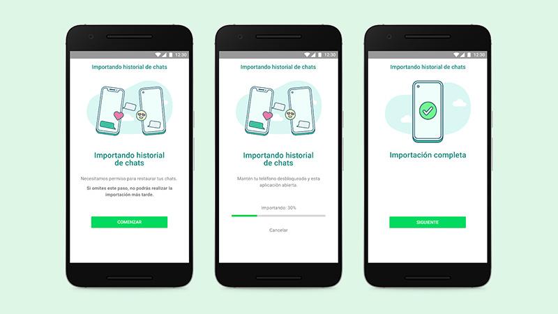 WhatsApp transferir Android a iOS