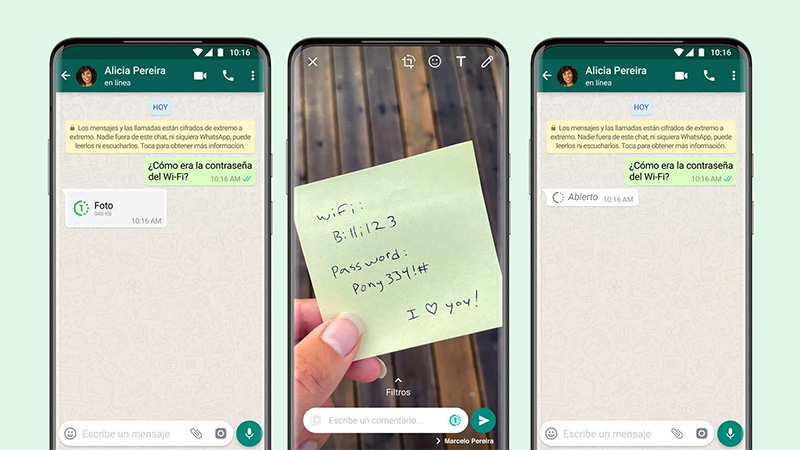 WhatsApp visualizacion unica mensajes multimedia