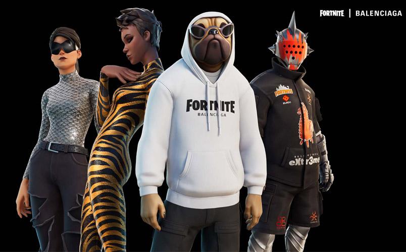 Esta es la colección de Balenciaga para los personajes de Fortnite