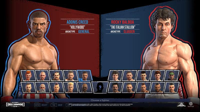 Big Rumble Boxing Creed Champions peleadores