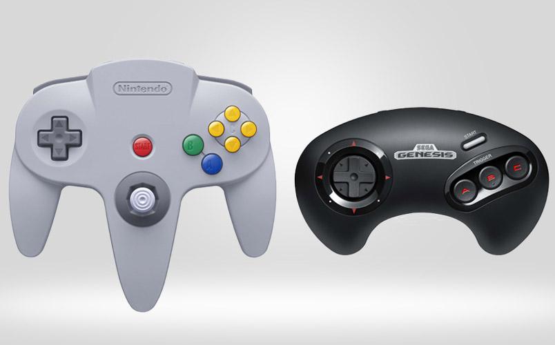 Controles inalámbricos de N64 y Genesis para Nintendo Switch Online