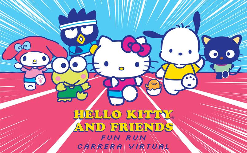 Participa en la Hello Kitty & Friends Virtual Fun Run 2021